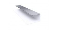 Металлические доборные элементы для фасада в Чехове Планка П-образная/завершающая сложная 20х30